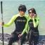 SM-V1-477 ชุดว่ายน้ำแขนยาว ชุดว่ายน้ำขายาว พื้นสีดำแขนเทียวสะท้อนแสงสวยๆ thumbnail 1