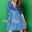 DR-LR-158 Lady Rosalie Smart Chic Embroidered Denim Shirt Dress thumbnail 2
