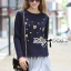 DR-LR-236 Lady Jewellery Embellished Sweater and Jersey Dress Set thumbnail 3