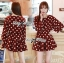 Lady Dree Monochrome Heart-Shaped Print Mini Dress L126-59A04 thumbnail 2