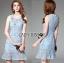 Lady Nara Feminine Elegant Crystal Embroidered Lace Dress L267-8514 thumbnail 5