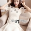 DR-LR-092 Lady Eva Sweet Perfect Embellished Flower Mini Dress thumbnail 4