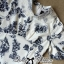 DR-LR-277 Lady Sweet Pearl Collar Blue Floral Blooming Chinoise Dress thumbnail 14