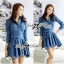 DR-LR-154 Lady Sarah Smart Casual Feminine Denim Shirt Dress thumbnail 3