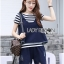 Lady Charlotte Striped Top with Ripped Tank Top and Shorts Set L263-8511 thumbnail 11