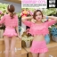 SM-V1-405 ชุดว่ายน้ำเซ็ต 3 ชิ้น สีชมพู (บรา+กางเกง+เสื้อคลุมผ้าลูกไม้) thumbnail 10