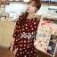 DR-LR-291 Lady Dree Monochrome Heart-Shaped Print Mini Dress thumbnail 6
