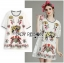 Lady Mia Imaginary Tiger Embroidered White Lace Dress L268-7908 thumbnail 7