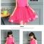 GD021 ชุดเดรสสีชมพูเข้ม ประดับดอกไม้ (เด็กโต) ชุดออกงานเด็กหญิง thumbnail 2