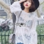 Lady Ashley Sweet Classic Lace Peplum Top in White L261-6909 thumbnail 8