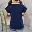 พร้อมส่ง เสื้อยืดแฟชั่น พิมพ์ลายแมวkitty สีน้ำเงิน thumbnail 5