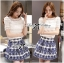 Lady Helena Sweet Casual Lace Top and Printed Skirt Set L162-85E01 thumbnail 2