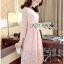 Lady Aliza Classic Vintage Plain Lace Dress with Belt L273-7909 thumbnail 9