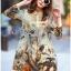 Lady Natalie Natural Wild Birdie Printed Shirt Dress L255-69B07 thumbnail 6