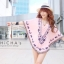Florally Embroidery Blouse สีชมพู C143-49A15 thumbnail 2