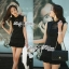 DR-LR-081 Victoria Secret Autumn Black&White Secret Mini Dress thumbnail 3
