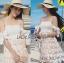 Lady Maria Sweet Sexy Stripy Ribbon Lace Dress L258-7903 thumbnail 3