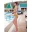 SM-V1-383 ชุดว่ายน้ำเอวสูง เซ็ต 2 ชิ้น สีเหลืองลายสวย thumbnail 9