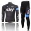 ชุดปั่นจักรยาน แขนยาว ทีม Sky ขนาด S พร้อมส่งทันที รวม EMS thumbnail 1
