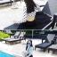 SM-V1-496 ชุดว่ายน้ำแขนยาว เสื้อสีขาวลายจุดดำ กางเกงเอวสูงสีดำ thumbnail 8