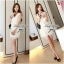 DR-LR-040 Lady Miki Pleats Please Chiffon Dress (สีขาว) thumbnail 5
