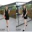Dress Black เดรสเดินเส้นขาวดำ thumbnail 2