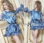 DR-LR-263 Lady Amanda Summer Floral Cut-Out Chiffon Dress thumbnail 4