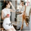 DR-LR-129 Lady Kelly Haute Glam Flowery Dress in White thumbnail 9