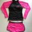 SM-V1-578 ชุดว่ายน้ำแขนยาว กางเกงขาสั้นสีชมพูบานเย็นสวย ๆ thumbnail 13