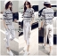 Lady Leslie Lace Embroidered Jersey and grey Culottes Set L266-79C03 thumbnail 1