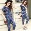 Lady Taylor Street Chic Fashionable Printed Soft Denim Set L262-7502 thumbnail 13