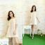 Off Shoulder Lace Dress เดรสลูกไม้ปาดไหล่ ระบายลูกไม้รอบอก thumbnail 5