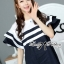 DR-LR-155 Lady Natasha Striped Dress in Navy Style thumbnail 8