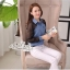 Lady denim long sleeve elegant chiffon True by Aris Code thumbnail 10