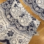Lady Olivia Blue and White Flower Laser-Cut Cropped Top and Shorts Set L264-7904 thumbnail 15