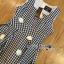 Lady Jennifer Summery Pretty Daisy Embroidered Plaid Dress L265-6901 thumbnail 10