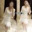 Lady Eva Classic White Polyester and Lace Ruffle Dress L250-79B02 thumbnail 6