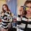 DS-PP-020 Lady Eva Chic Bold Striped Set thumbnail 8