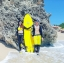 SM-V1-553 ชุดว่ายน้ำแขนยาวขายาว เซ็ต 4 ชิ้น สีดำตัดขอบลายเหลืองสวยๆ yellow-black soldier thumbnail 15