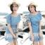 DR-LR-039 Emma Denim Layer Trim Mini dress thumbnail 3