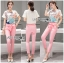 Lady Margie Playful Printed Top and Pink Ribbon Pants Set L261-7506 thumbnail 6