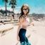 SM-V1-609 ชุดว่ายน้ำแขนยาว+ขาวยาว เซ็ต 4 ชิ้น โทนสีชมพูอ่อน ขายาวตัดต่อลายสวย ๆ thumbnail 6