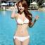 SM-V1-446 ชุดว่ายน้ำ เซ็ต 3 ชิ้น สีขาวครีม บรา+บิกินี่+เสื้อตาข่าย thumbnail 16