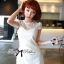 DR-LR-053 Lady Pure White Blossom Embroidery Gala Mini dress thumbnail 7