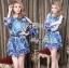 DR-LR-263 Lady Amanda Summer Floral Cut-Out Chiffon Dress thumbnail 2