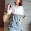 Lady Coco Cotton White Shirt with Denim Skirt Dress L202-69B10 thumbnail 10