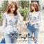 Sweetie sleeves layer Chiffon Blouse thumbnail 2