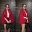 เสื้อสูทผ่าแขนทรงเกาหลี ผ้าฮานาโกะเนื้อดี thumbnail 3