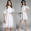 Lady Abigail Casual Lace Cotton Shirt Dress L275-8510 thumbnail 2