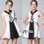 DR-LR-237 Lady Cindy Monochrome Graphic Shirt Dress thumbnail 5